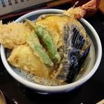 神楽 - ランチの大エビ天丼