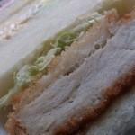 小麦工房リヨン - 料理写真:カツサンドアップ
