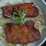 丸八亭 - ミニソースカツ丼(真上)