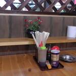 丸八亭 - 入口近くのテーブル席