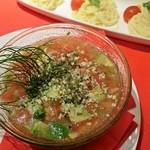 アポロカフェ - [夏季限定]カッペリーニつけ麺 トマトとアボガドの塩ダレソース 880円