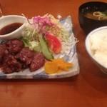 ロイン - ミニステーキ定食
