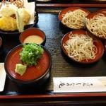 しなの庵 - なごみそばと鱧の天ぷら1,280円