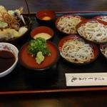 しなの庵 - なごみそば天ぷら付き(5皿)1,250円