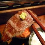 和牛焼肉 布上 - ☆山葵&塩もなかなかイケますね☆