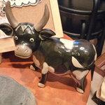 和牛焼肉 布上 - ☆お出迎えしてくれる牛なマスコットも(^◇^)☆
