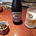 銀座魚ばか はなれ - ビールは瓶のみでした