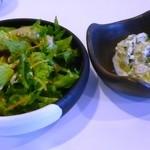 ひとやす味 - 肉そばのサラダと小鉢