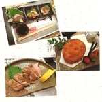 ふみ - おすすめ三種盛り ふみコロッケ 地鶏塩焼き
