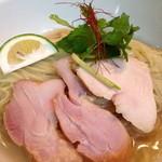 維新 - 鶏節の細つけ麺 改 麺アップ