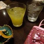 森ノ宮応援酒場 菜蔵 - すてきなマンゴー酒:504円+黒霧島:504円