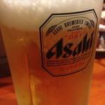 七輪焼肉 安安 - 生ビール