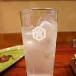岩亀 - レモンサワー350円