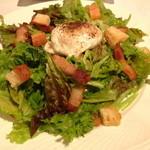 Ripaille - これが、リヨン風サラダ...ベーコンと半熟玉子・・・醍醐味です!