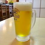 葵 - 生ビールは600円。ちょいとお高いです