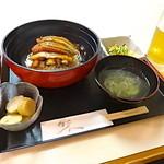 葵 - うなぎ丼定食880円。お吸い物、小鉢、デザート付き!!