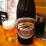 ラーメン龍太郎 - ビール550円(サッポロも有ります)