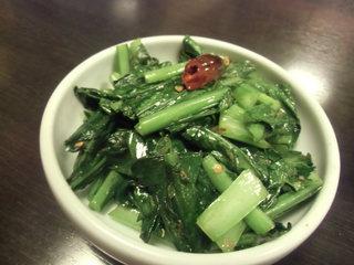 ネパール家庭料理 ホワイトヒマラヤ - 小松菜のサブジ