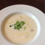 アグロドルチェ - 自家菜園冷製桃のスープ