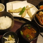 四季酒菜 風土 - 日替わり膳(肉じゃが&天ぷら)