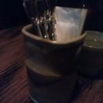 轆轤 - 珍しく~立て型のフォーク&スプーン受け皿(^o^