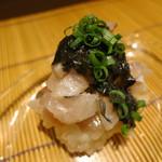 みや - 長崎松浦旬(とき)あじの飯蒸し 焼き海苔と鰹出汁のピュレ