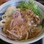 香の川製麺 - わさびおろし肉ぶっかけ