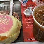 マクドナルド - ソーセージエッグマフィンとアイスコーヒー