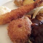Guruton - カニクリームコロッケと海老フライ