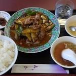 50番 - 豚肉と茄子とピーマン炒め¥800