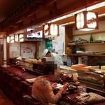 竹の浦 飛翔閣 - 板場とカウンター