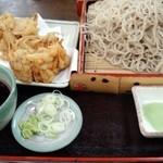 やぶ茂 - 桜海老かき揚げ