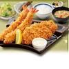 かつはな亭 - 料理写真:●黄金豚のロース&海老フライ定食●一番人気の組み合わせです♪