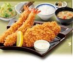 かつはな亭 - 料理写真:●黄金豚のロース&海老フライ定食●一番人気の組み合わせです♪(税込1,449円)