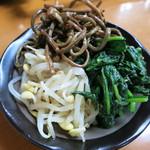 大衆肉料理 榎久 - <2013年7月>ナムル 370円