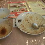 スリランカ料理 ラサハラ - 美味しく頂きました、チャイが飲みたかったけど100円でもおさえたい気分 エヘ