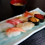 寿司万 - 特上にぎり 2,200円