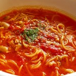 スパゲッティ専科 すたじおーに - ツナときのこのトマトスープパスタ