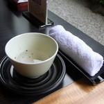 20069437 - まずは温かい紫蘇茶とオシボリ♪