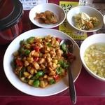 20072067 - 鶏肉の甘味噌炒めランチ(^o^)