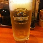 もつ焼き かめや - 生ビール450円
