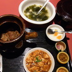 20075935 - 牛スジ肉の特製壷煮+豆腐の煮込み800円2013年7月16日金香楼