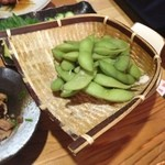 焼き鳥とりたけ - 茹でたての枝豆