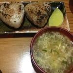 焼き鳥とりたけ - 焼きおにぎりとコラーゲンたっぷりの鳥スープ
