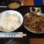 登喜和 - 登喜和の登喜和定食(牛肉野菜炒め)930円(13.07)