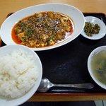 福満堂 - 四川マーボー豆腐とライスセット