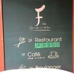 レストラン レ・フレール - 入り口看板