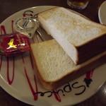 トマト&オニオン - 「スクランブルエッグセット」パンアップ