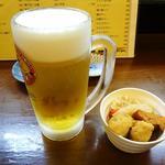 20083908 - 生ビール&お通し