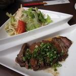 洋食家がじゅまろ - 和風ステーキおろしソース、